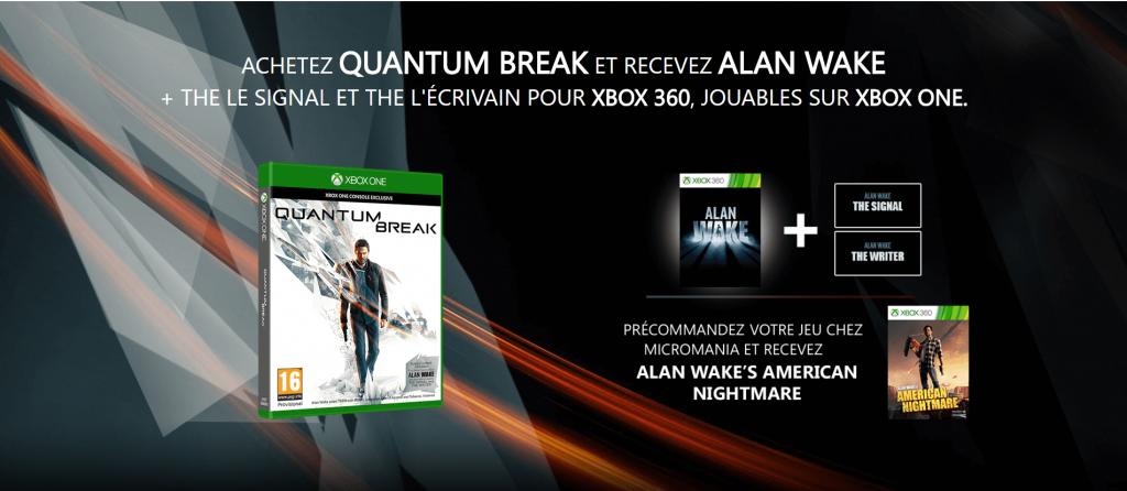 Quantum Break offre